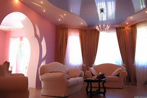 Фактурные натяжные потолки фото перламутровые (1)