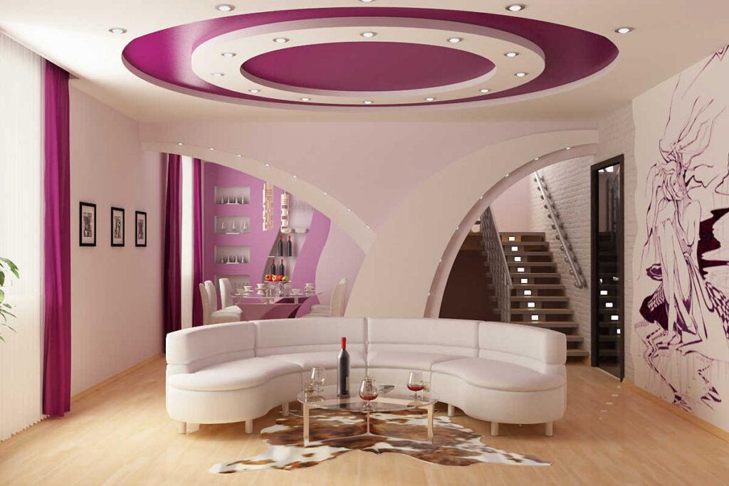 Многоуровневые трехуровневые потолки Долинская