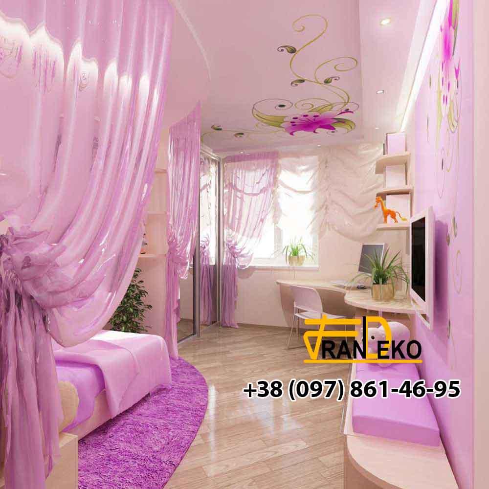 Натяжной потолок в спальне Желтые Воды